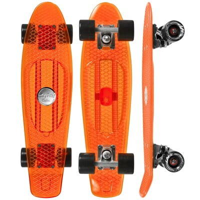 "CHOKE SKATEBOARDS Juicy Susi 22,5""x6, clear orange"