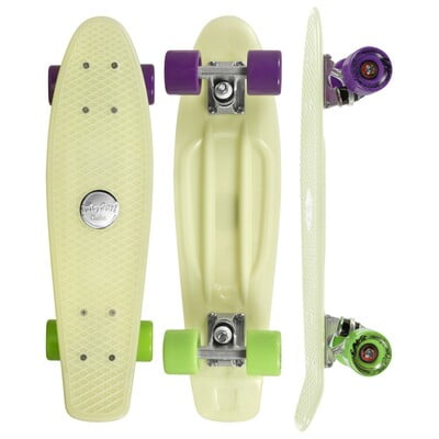 "CHOKE SKATEBOARDS Juicy Susi Elite 22,5""x6, glow in the dark"
