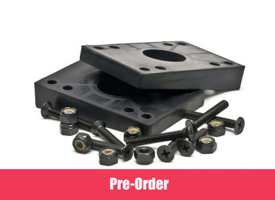 Longboard Mindless 2 Angled Risers and 8 Bolts Black