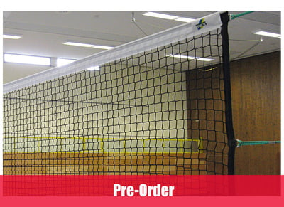 Volleyball tournament net in PE twisted knotless netting 2 mm, DVV I, Mesh: 45 mm