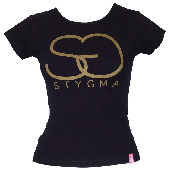STYGMA GIRLY GOLD T-SHIRT BLACK