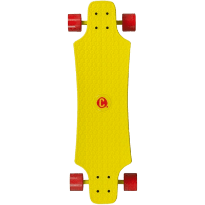 CHOKE SKATEBOARDS Large Lars Juicy Susi YELLOW